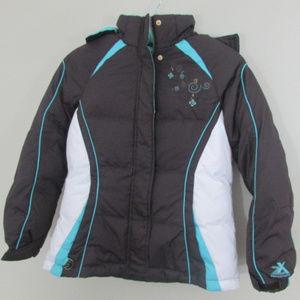 Zeroxposur Girls Jacket Large 14 Brown Teal